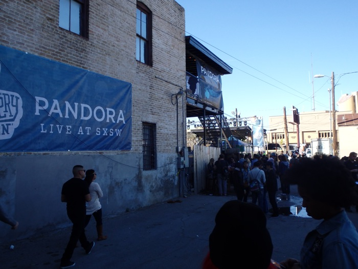 """Pandora's recent fight against raising royalties for song writers was ruled a """"draw"""" by the courts. Yet another instance of irony at SXSW 2014. Photo by Miles Terracina."""