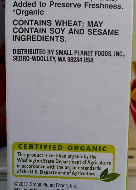 Note: Even USDA certified products have a chance of containing soy. Photo by Andrew Moore.