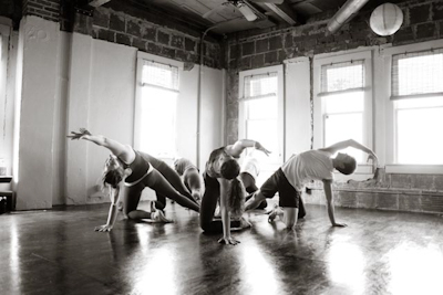 Southtown Yoga Loft session. Photo courtesy of Raven Red Photgraphy.