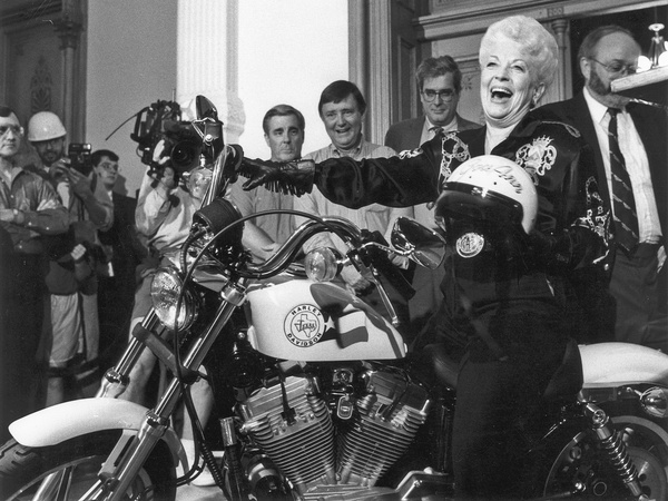 Ann Richards was a born entertainer, author Jan Reid says. Photos courtesy of the Dolph Briscoe Center for American History. From Let the People In: The Life and Times of Ann Richards by Jan Reid,