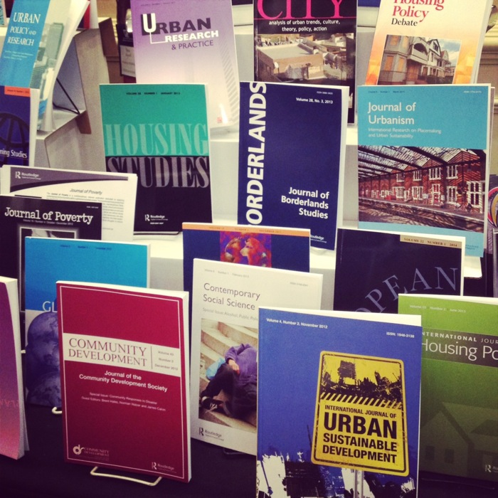 Urban studies journals on display photo via Instagram