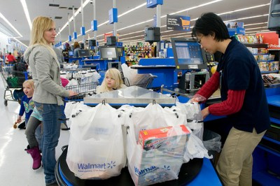 Walmart Grocery checkout line. Photo courtesy of Wal-Mart.