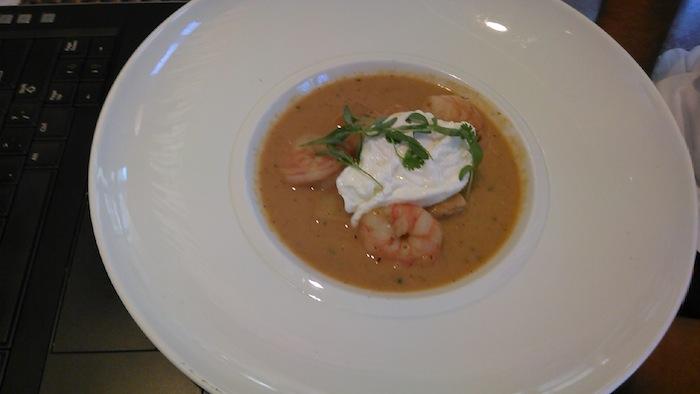 Tom Morrissey's final CIA project: Peruvian seafood chupe (seafood chowder). Photo by Tom Morrissey.