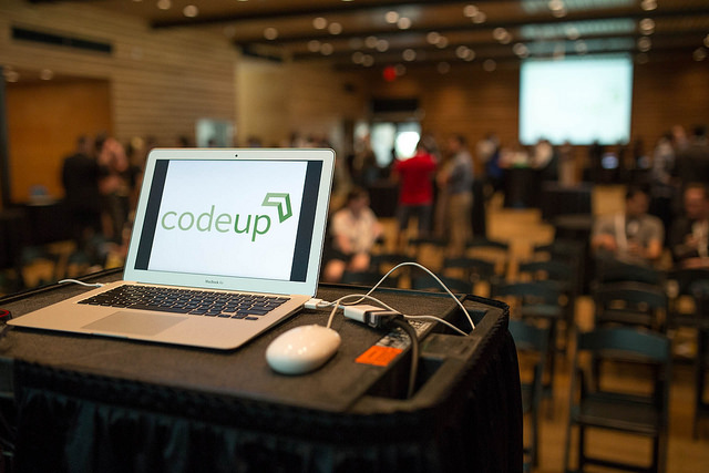 Codeup Demo Day at The Briscoe Western Art Museum April 22, 2014. Photo by Scott Ball.