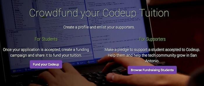 A screen shot of www.crowdfund.codeup.com