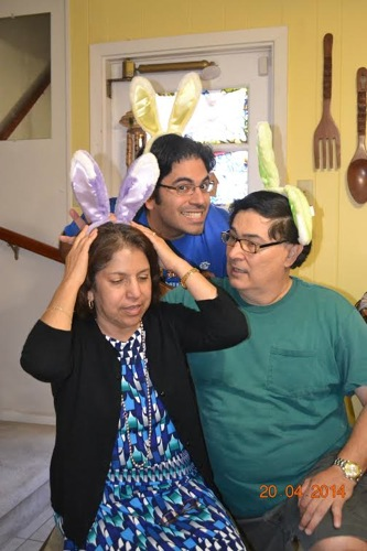 Family life with my parents on Easter 2014. Courtesy photo.