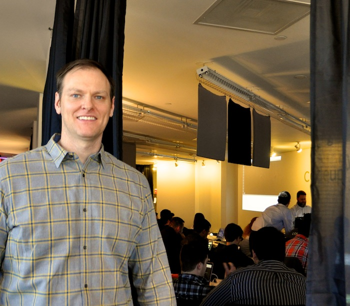 Michael Girdley, founder of Codeup, during the first day of the inaugural class in February 2014. Photo by Iris Dimmick.
