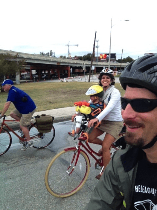 The CohenMiller Family out on a rainy ride. Courtesy photo.