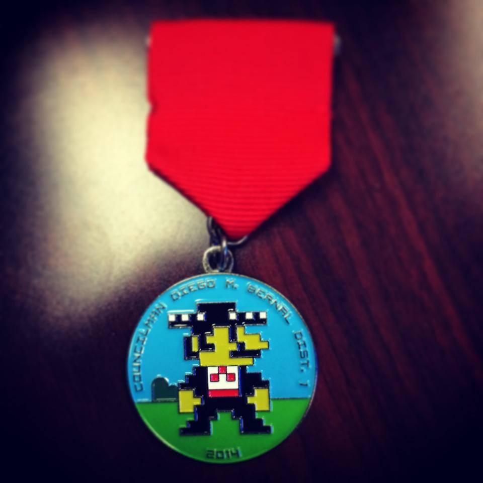District 1 Councilman Diego Bernal's 2014 Fiesta medal. Photo courtesy of Diego Bernal.