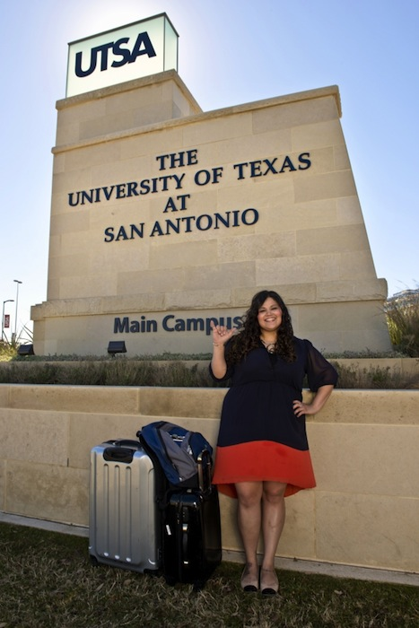 Former foster youth Krizia Ramirez found her new home at UTSA. Photo by Patrick Dunn/UTSA.