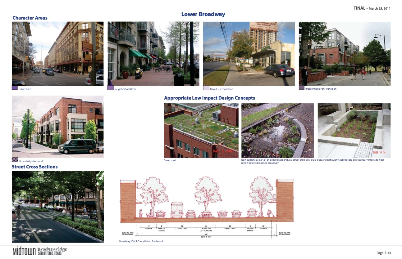 "Images of ""Lower Broadway"" from the Midtown Brackenridge TIRZ Master Plan."