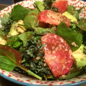 Mediterranean salad from One Lucky Duck cleanse. Photo by Claudia Zapata.