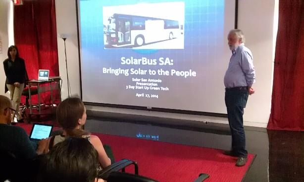 Solar San Antonio Executive Director Lenny Sinkin introduces SolarBus SA