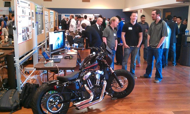 UTSA engineering students presented their Capstone Projects before the competition