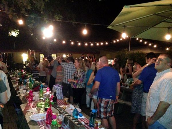 """The crowd dancing to """"Shout!"""" after dinner. Expect the same fun at other Culinaria events."""