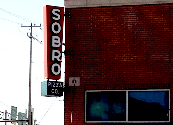 SoBro Pizza Co. sign. Courtesy photo.