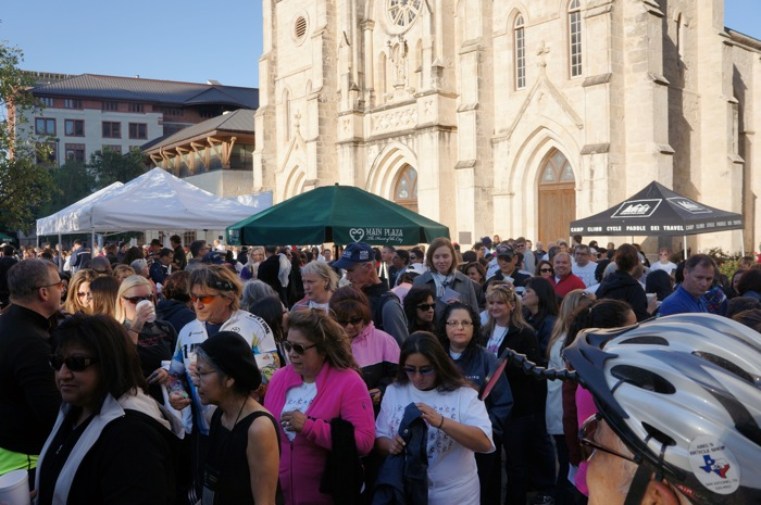 The 2012 Walk and Roll Rally. Photo courtesy of Alamo Area MPO.