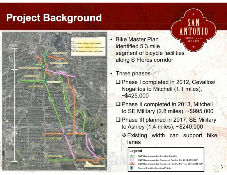 4-21-14 Public Meeting_project background of South flores bike lanes