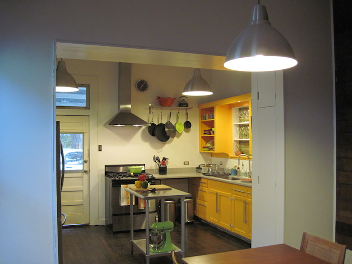 Bekah and Lewis McNeel's kitchen after renovation. Author photo.