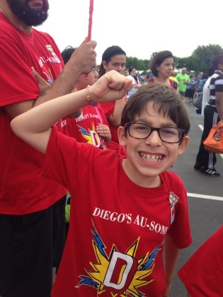 Diego Ortiz smiles for the camera during Any Baby Can's 10th Annual Walk for Autism. Courtesy photo.