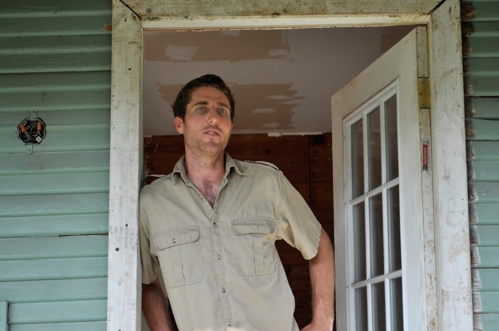 Ryan Bigley at home in Dignowity Hill. Photo by Iris Dimmick.