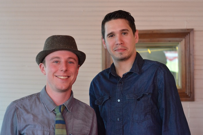 Andy Hack (left) and Jake Corney, co-owners of H&C Ice Co. Photo by Heather Hernandez.