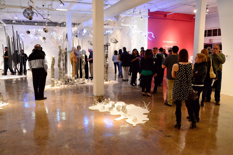 Contemporary Art Month's opening party at Blue Star Contemporary Art Museum in 2014. Photo by Page Graham.