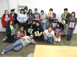 MOSAIC students with Alex Rubio (center). Photo courtesy Blue Star.