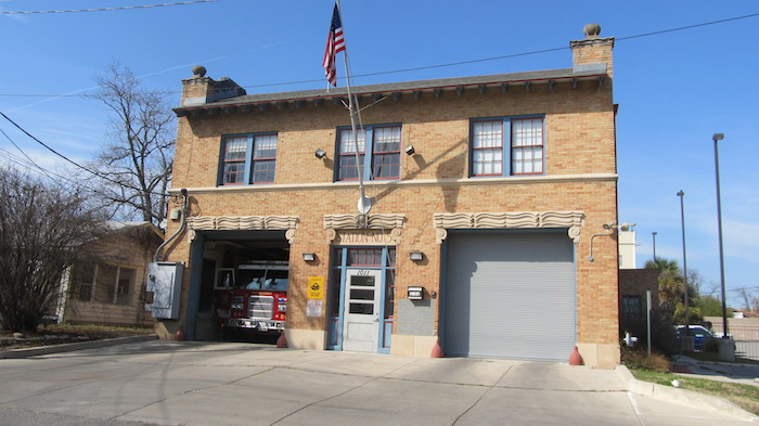 Fire Station No. 5 in Goverment Hill, San Antonio. Photo by Grant Ellis.