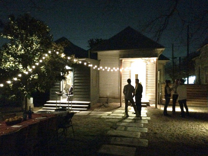 Guests arrive for dinner at the McNeel's home in Dignowity Hill. Photo by Lewis McNeel.