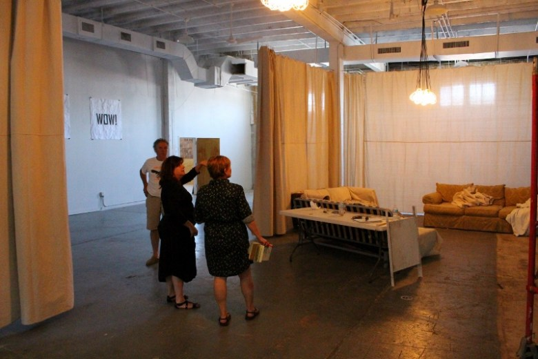 Touring BRICK with Mike Looney, Elizabeth Ciarfeo and Tami Kegley. Photo by Page Graham.