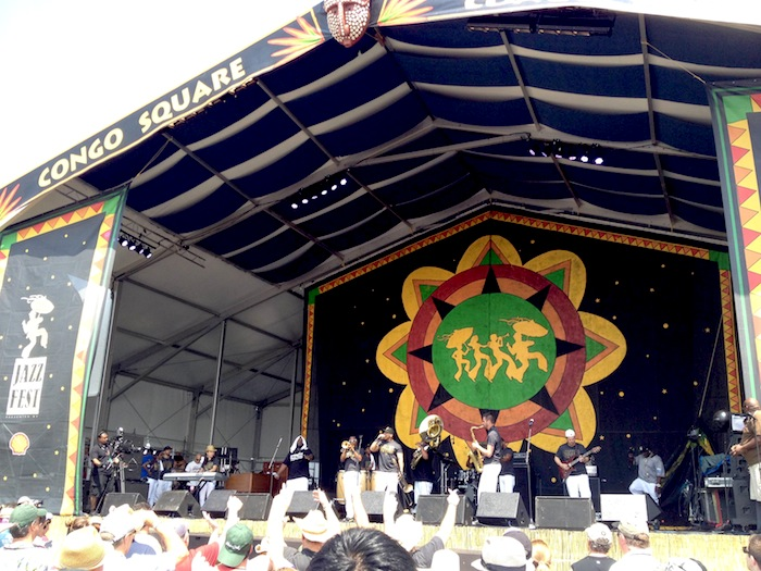 Performance during 2014 New Orleans Jazz and Heritage Festival. Photo by Adam Tutor.