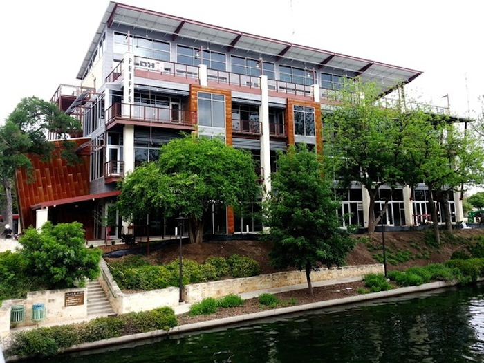 The Phipps Office on the San Antonio River Walk at 102 9th St. Photo courtesy of Durand-Hollis Rupe Architects, Inc.