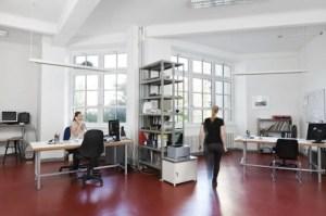 Inside the studio. Photo courtesy of Künstlerhaus Bethanien.