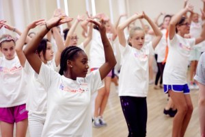 Camp Broadway campers practicing dancing. Photo courtesy Camp Broadway.