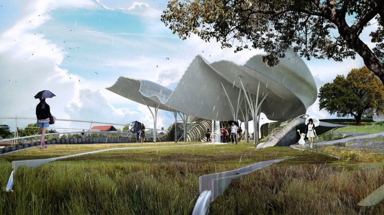 Confluence Park, designed by Ball-Nogues Studio. Image courtesy S.A. River Foundation.