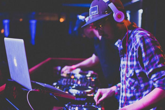 DJ SaiKo during a concert.  Courtesy photo.