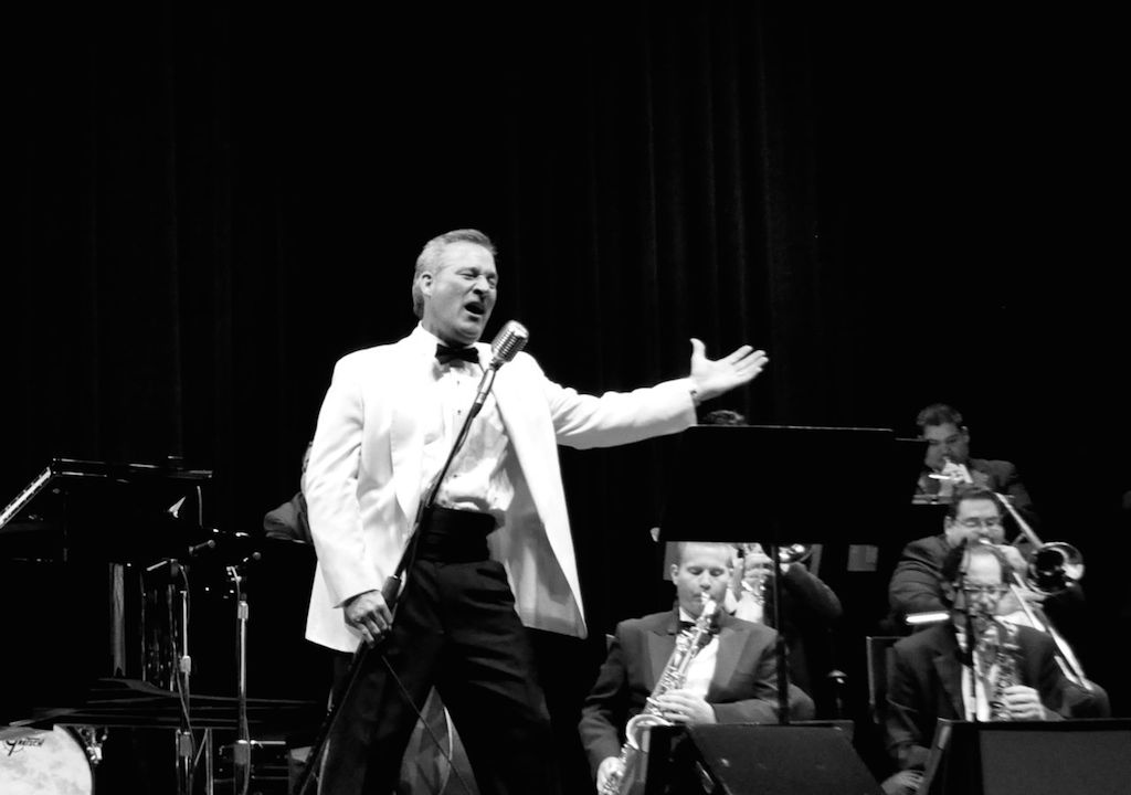 Doc Watkins and his Big Band on stage at The Empire Theatre. June 10, 2014. Photo by Iris Dimmick.