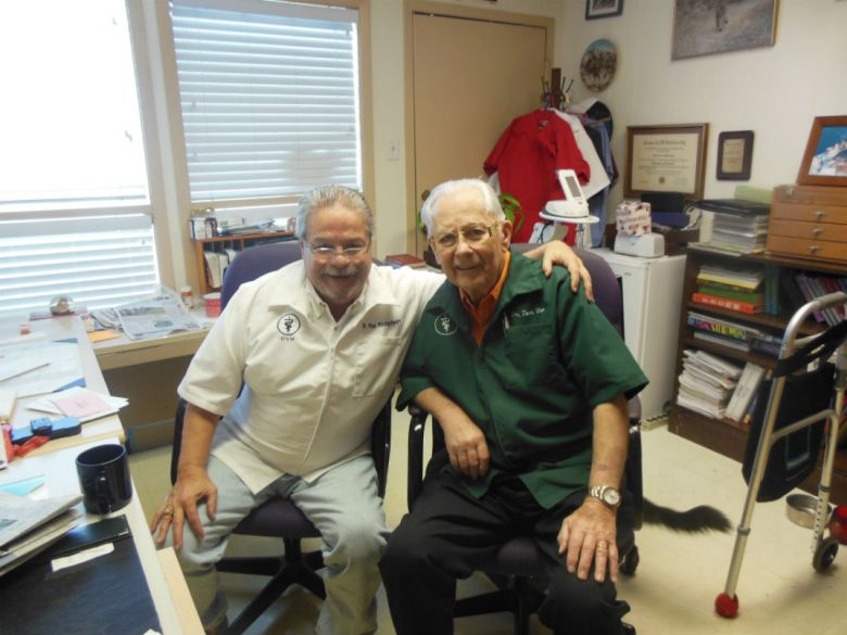 Dr. Pat Richardson (left) with Dr. Tom Vice. Photo courtesy Felicia Glenn.