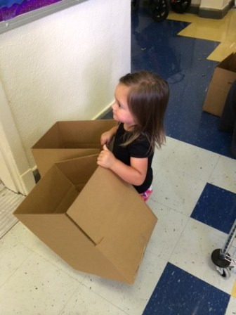 A job for even the littlest helpers at Lamar ES.