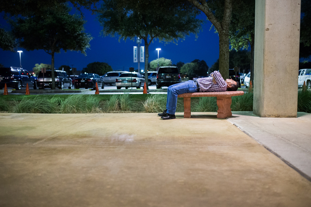 A limousine driver, Carlos, waits outside the AT&T Center during Game 2 of the NBA Finals June 8, 2014. Photo by Scott Ball.