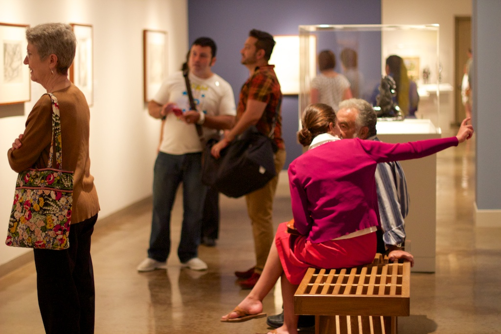 Patrons explore the grand opening of Matisse: Life in Color at SAMA. June 14, 2014. Photo by Taylor Browning.