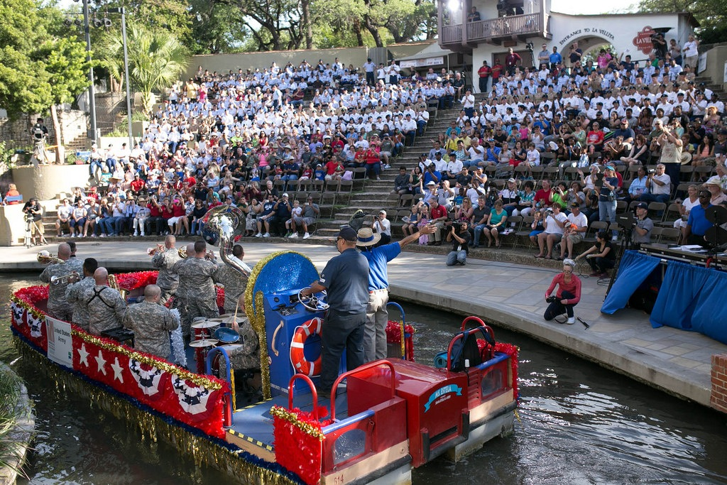 Arneson River Theatre during the 2014 Armed Forces Parade. Photo by Scott Ball.a