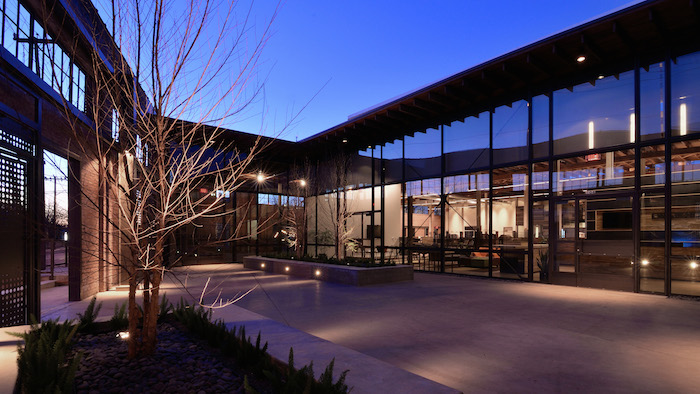 The Hughes Warehouse, and adaptive re-use project by Overland Partners. Photo by Brantley Hightower.