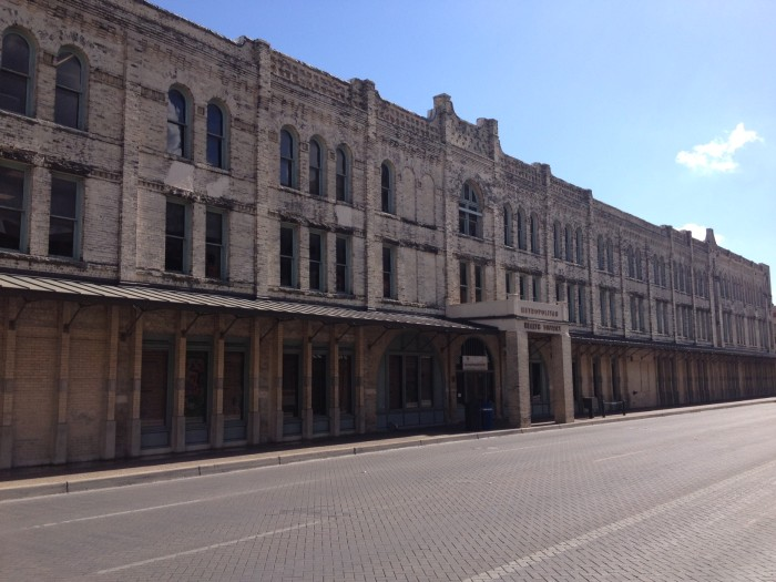 The Continental Hotel, now the site of the City of San Antonio's Metro Health Department. Photo by Robert Rivard.