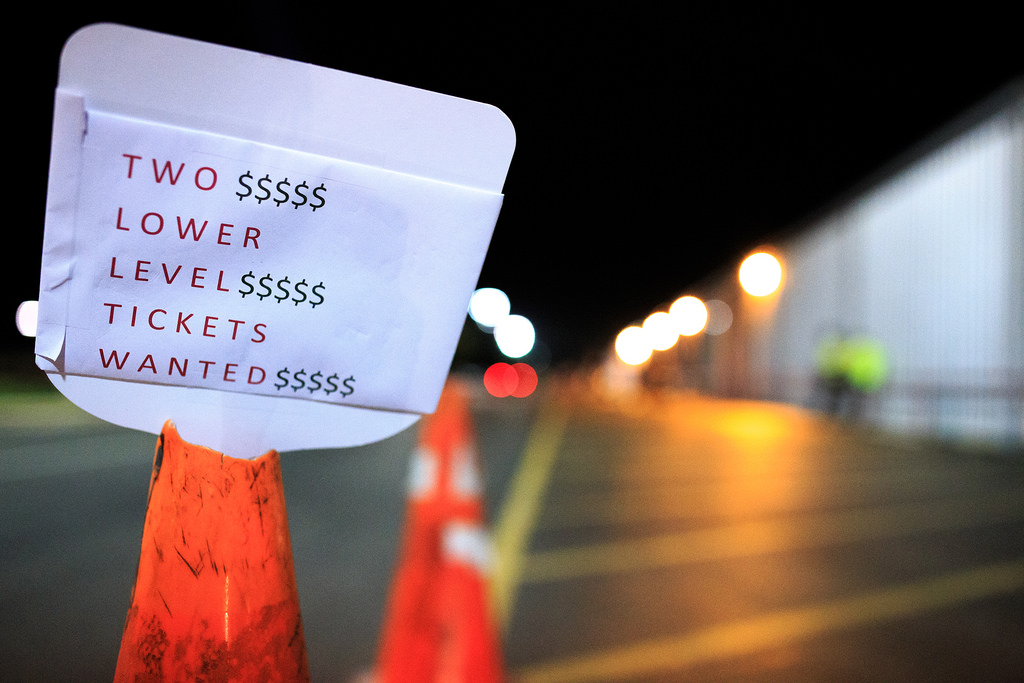 A sign of desperation, found after Game 2 of the NBA Finals June 8, 2014. Photo by Scott Ball.