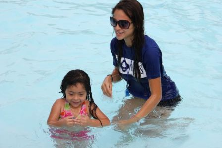 Summer swimming lessons are available at any City pool. Photo courtesy of the Parks and Recreation Department.