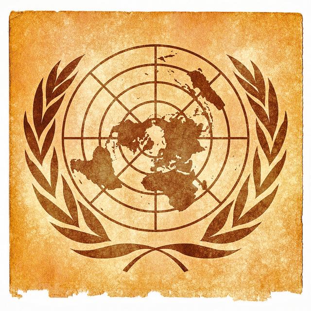 United Nations emblem graphic by Nicolas Raymond.