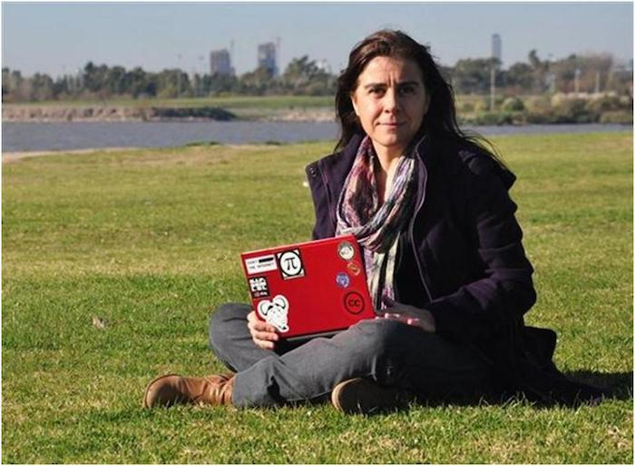 Beatriz Busaniche is a member of the Fundacion Via Libre. She is also a founding member of Wikimedia Argentina and a Public Leader for Creative Commons Argentina. Courtesy photo.