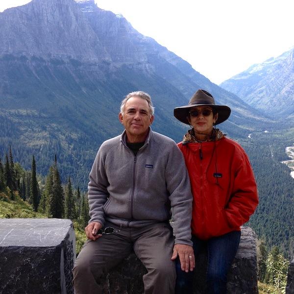 Robert Rivard and Monika Maeckle at Glacier Lake National Park, September 2013. Photo by Mike Maeckle.